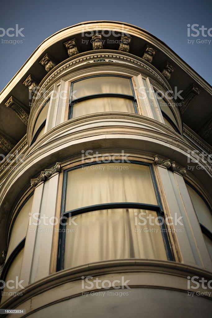 Corner Apartment House in San Francisco royalty-free stock photo