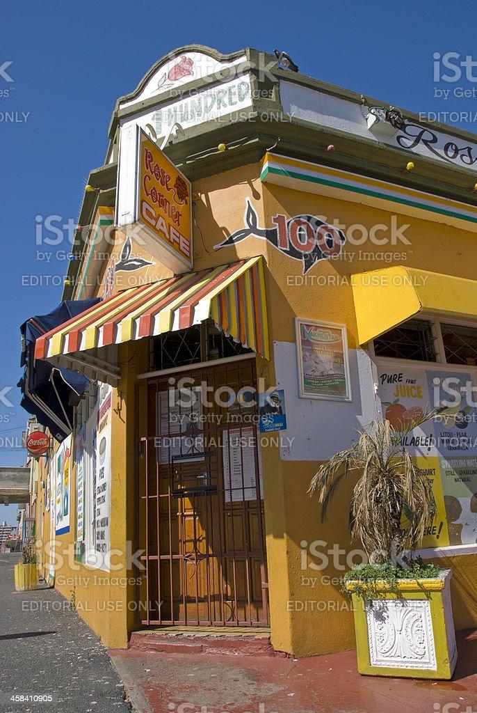 Corner Cafe stock photo