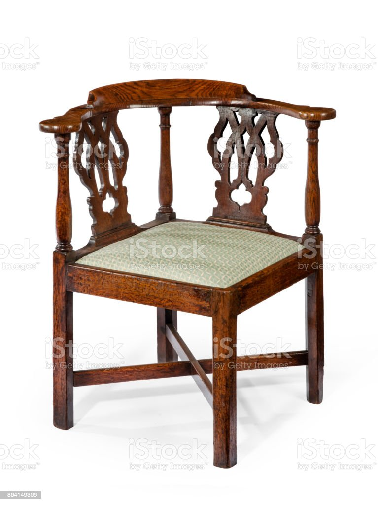 Corner chair old antique wooden mahogany royalty-free stock photo