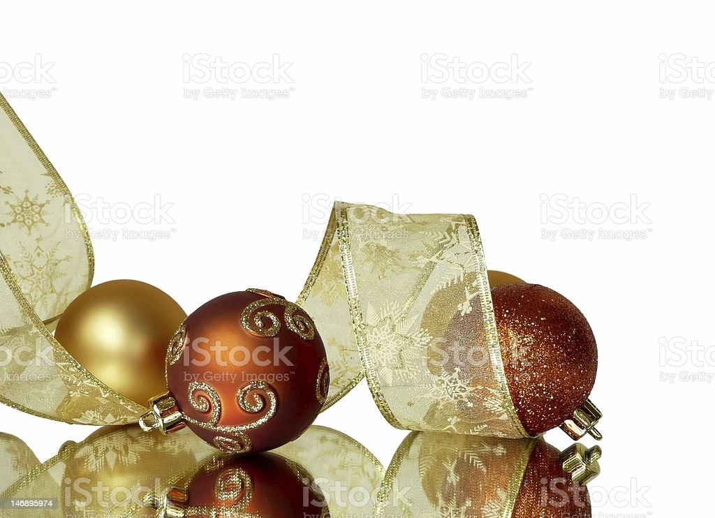 Corner Christmas Ribbons Border royalty-free stock photo