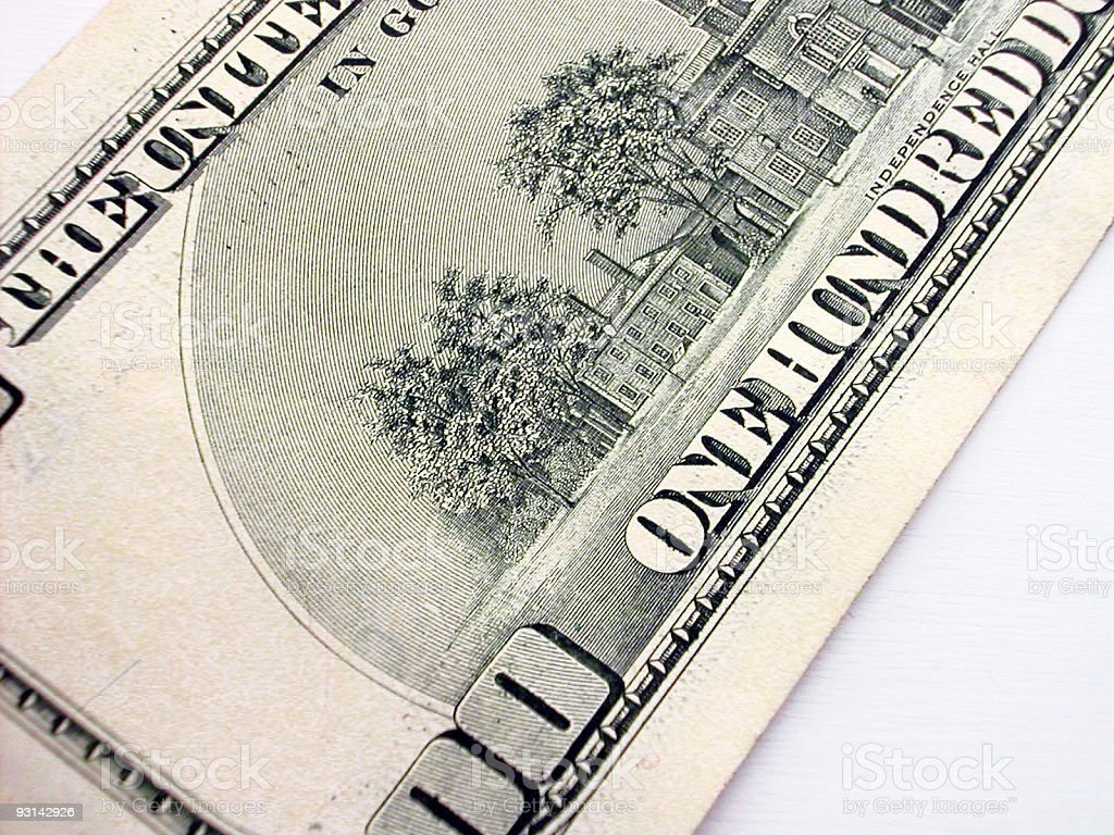 100 corner close royalty-free stock photo