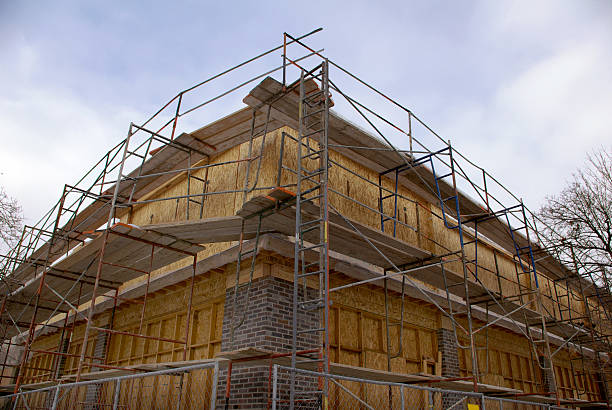 corner construction - mikefahl stock pictures, royalty-free photos & images