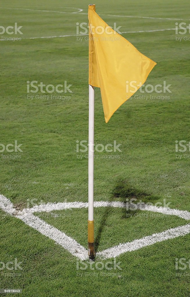 Corner flag royalty-free stock photo