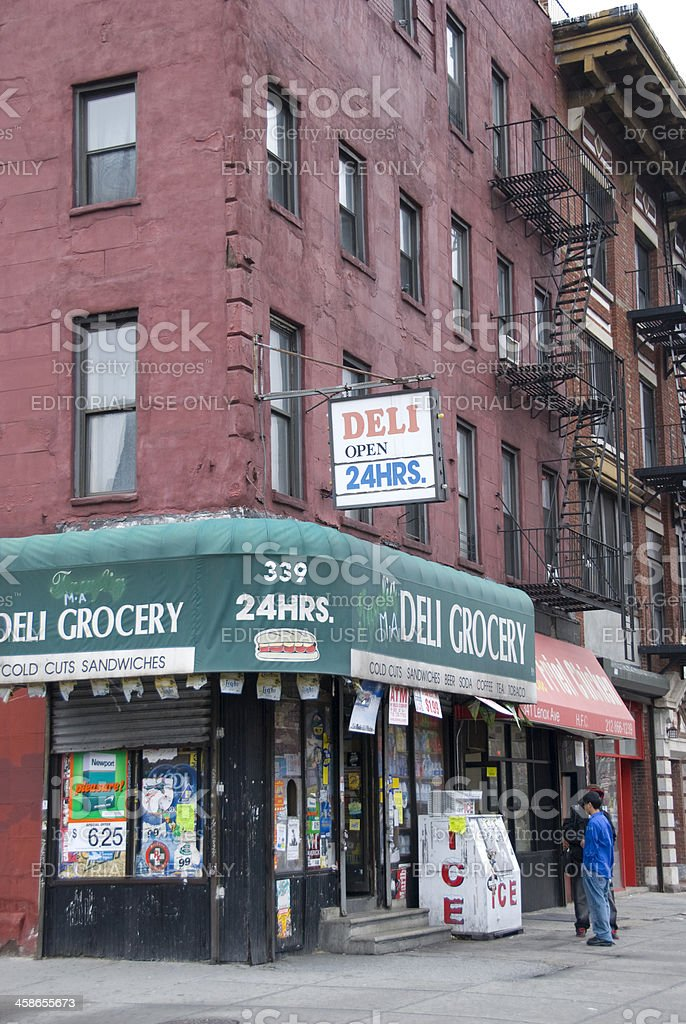 Corner Grocery Store in Harlem stock photo