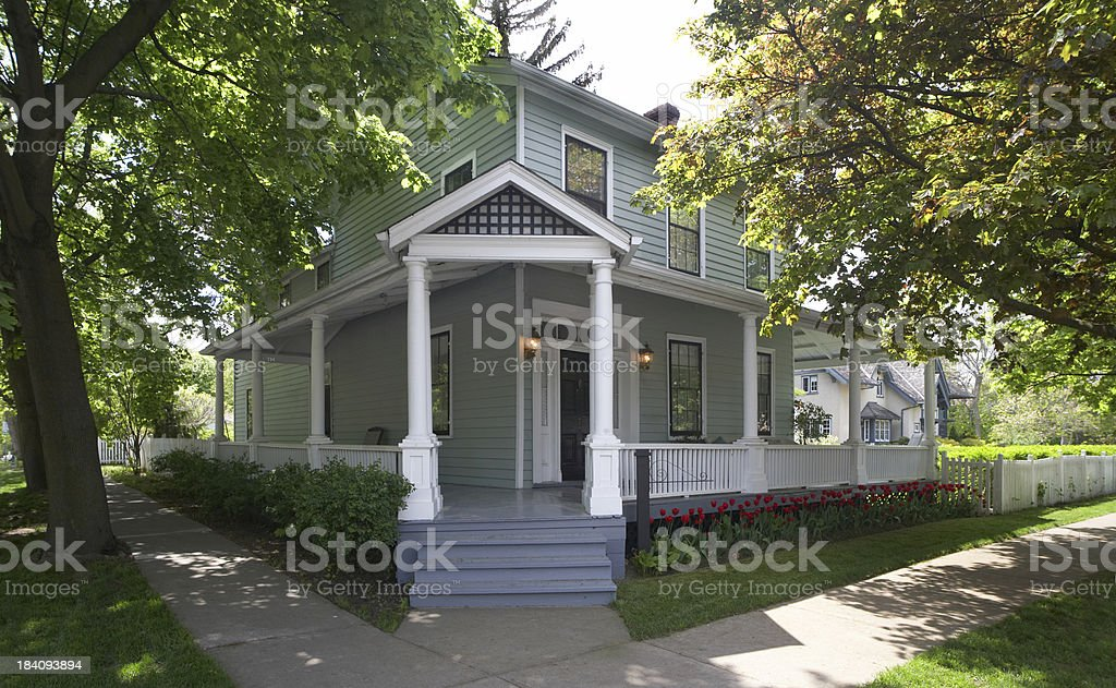 Corner House stock photo