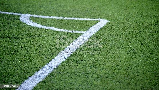 istock Corner in a soccer field 680427412