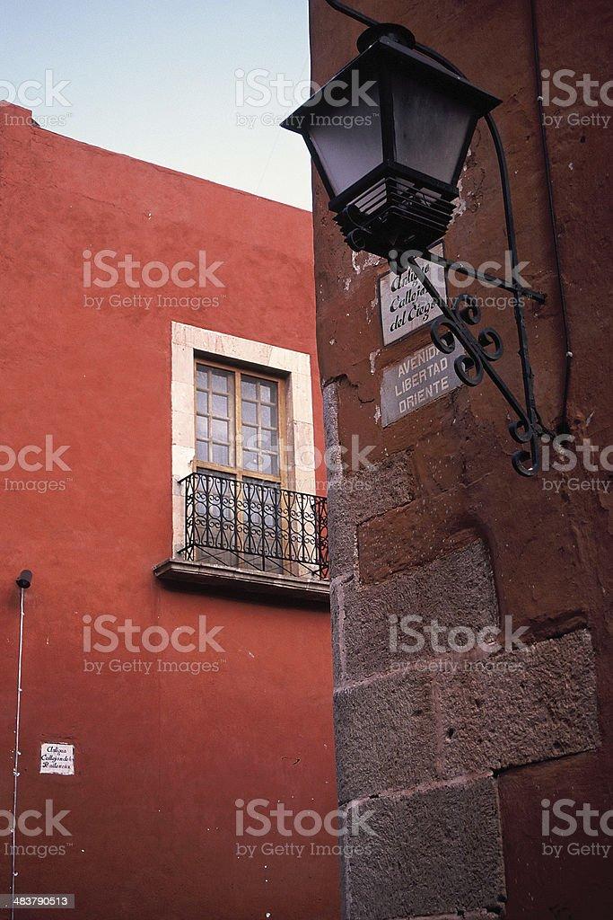 Corner in the Historic Center of Queretaro, Mexico stock photo
