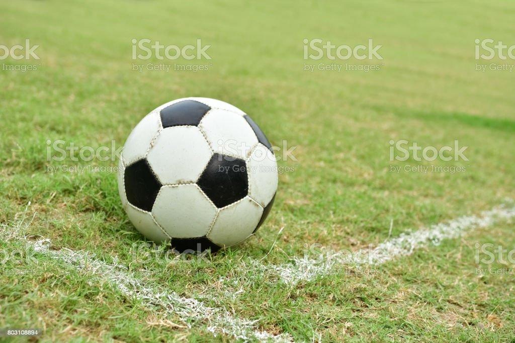 Corner kick stock photo