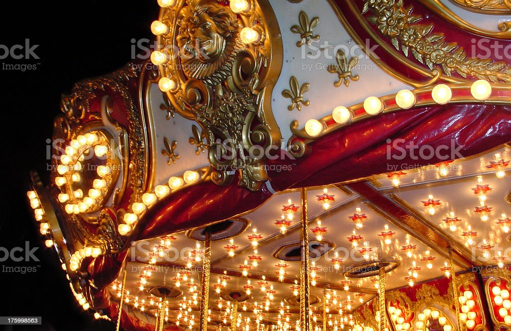 corner of a carousel stock photo