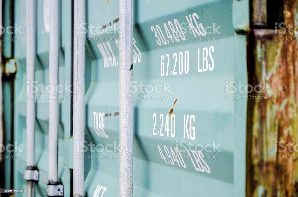 Corner of a container stock photo
