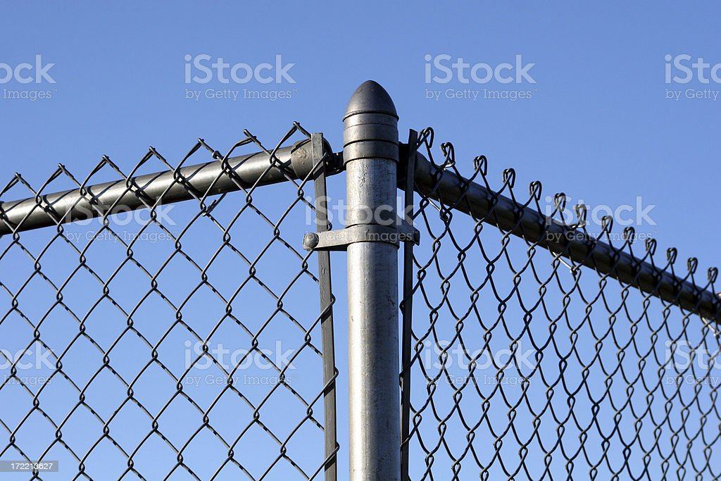 Corner of a fence stock photo