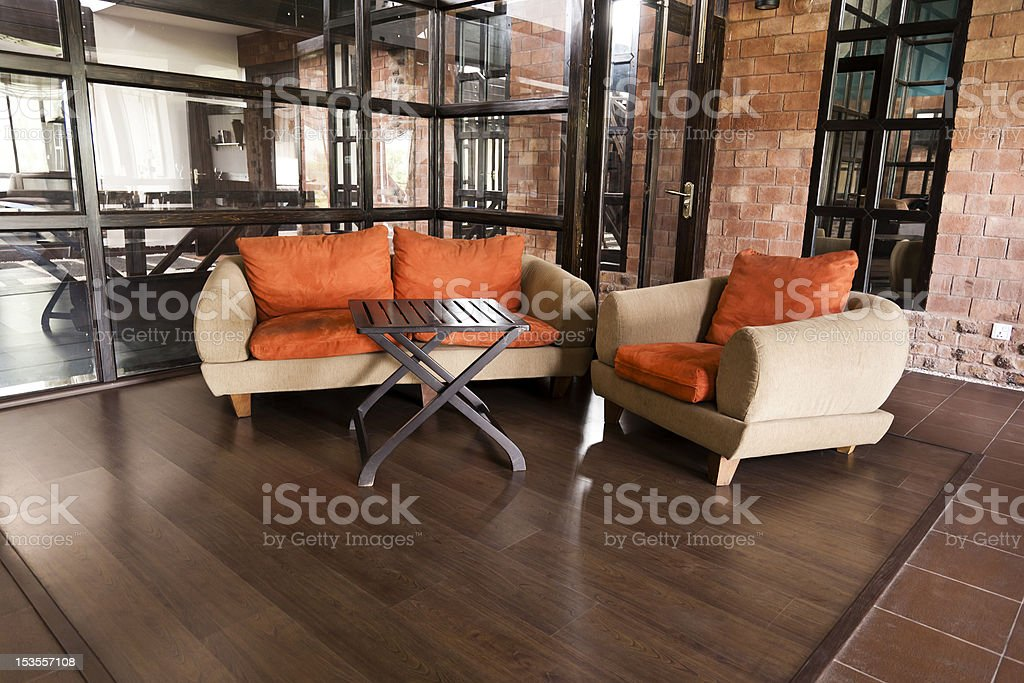 corner of a luxury modern appartment royalty-free stock photo