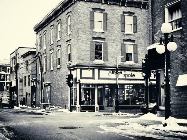 A corner of a street. stock photo
