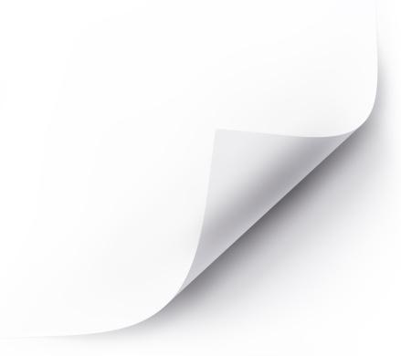 Strona Curl - zdjęcia stockowe i więcej obrazów Biały