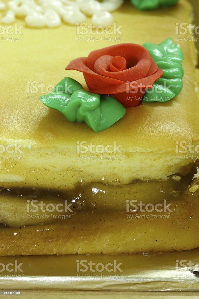 Corner of Apple Cheese Cake stock photo