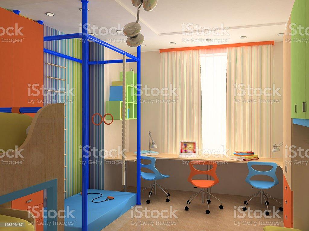 Ecke Kinder Schlafzimmer Mit Eleganten Möbeln Stockfoto und ...