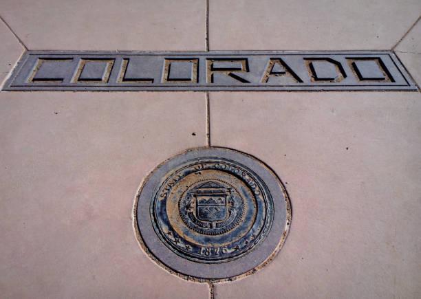 Corner of Colorado stock photo