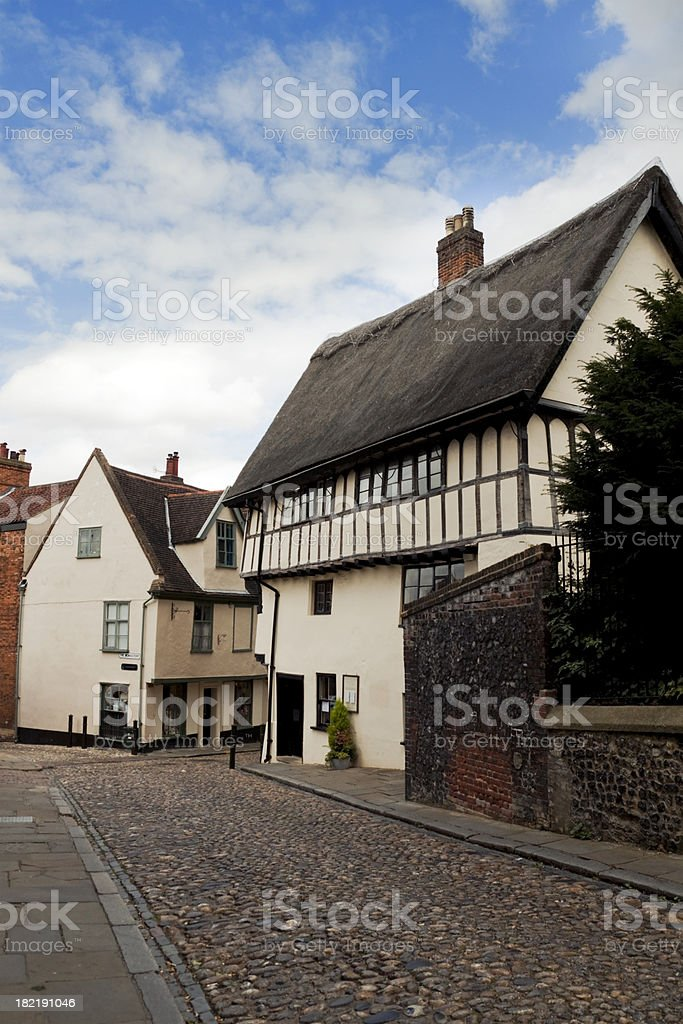 Corner of Elm Hill, Norwich royalty-free stock photo
