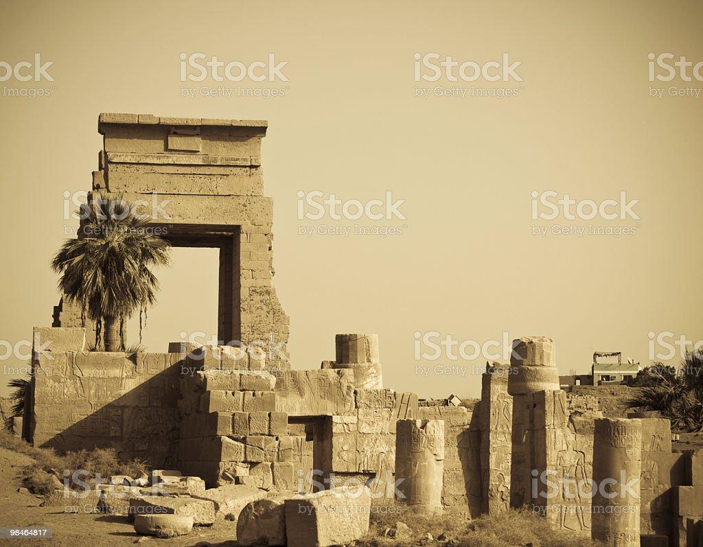 corner of  kanark temple,Luxor,Egypt royalty-free stock photo