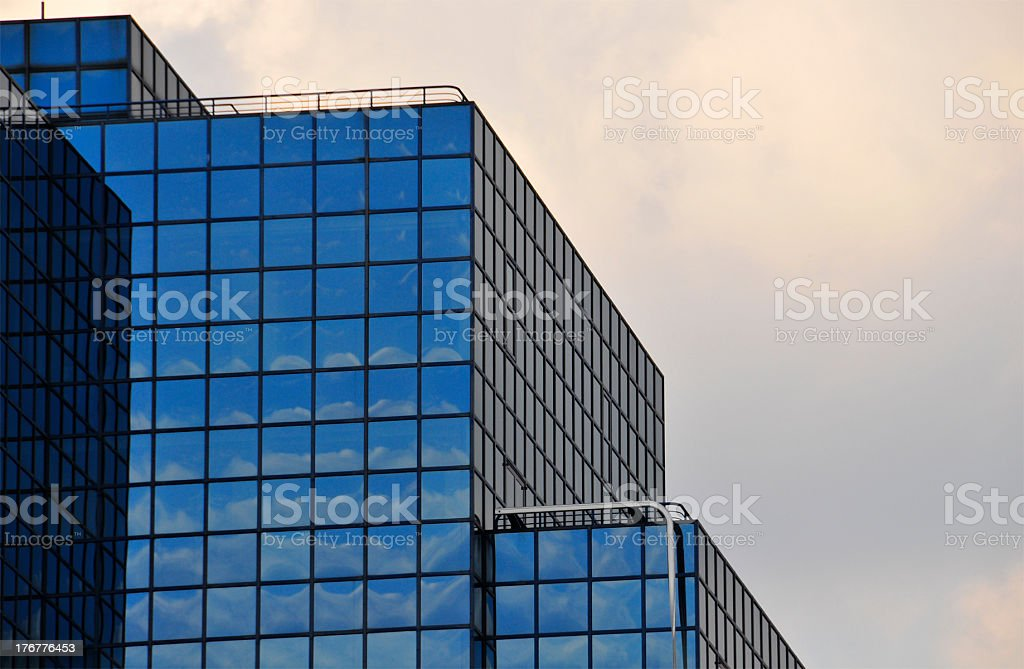 Corner of Rooftop Corporate Building royalty-free stock photo
