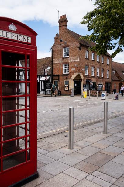 Corner of Sheep Street and Waterside - Stratford-upon-Avon stock photo