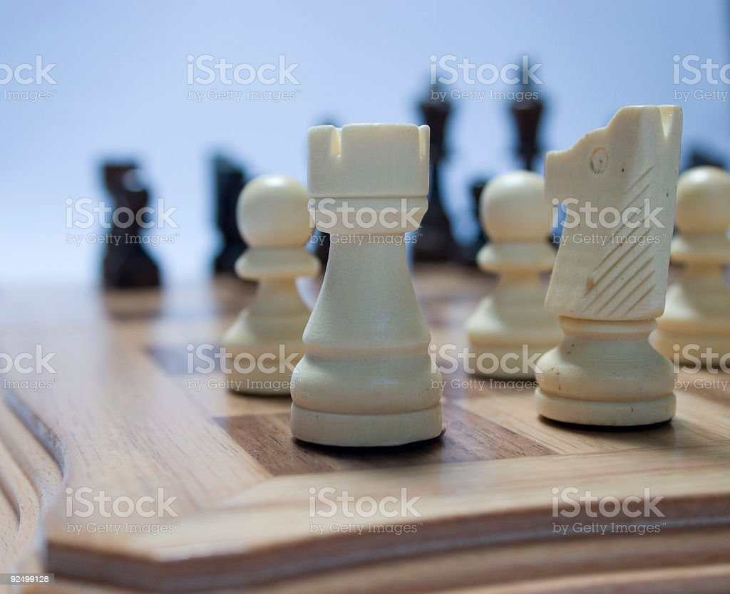 Corner of the chess board royalty-free stock photo