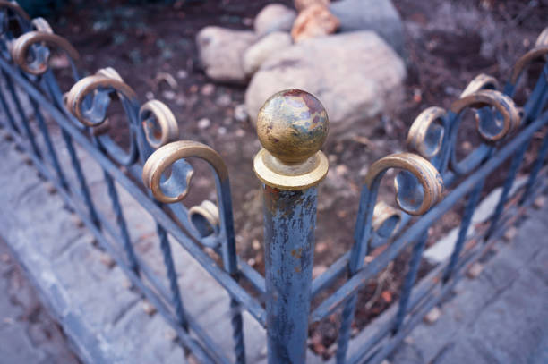 Corner of the fence in detail object background hd stock photo