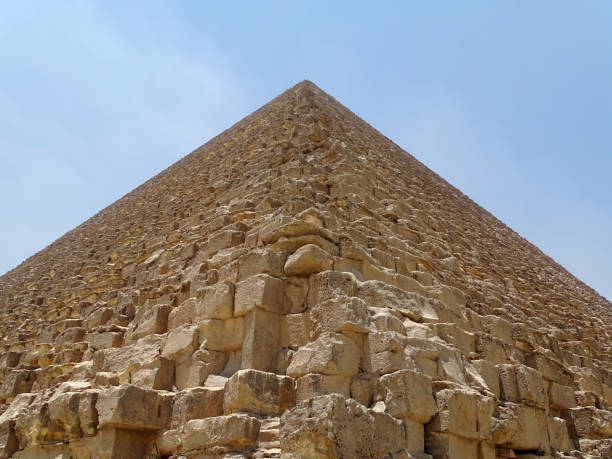 A corner of the great Pyramid in Egypt stock photo