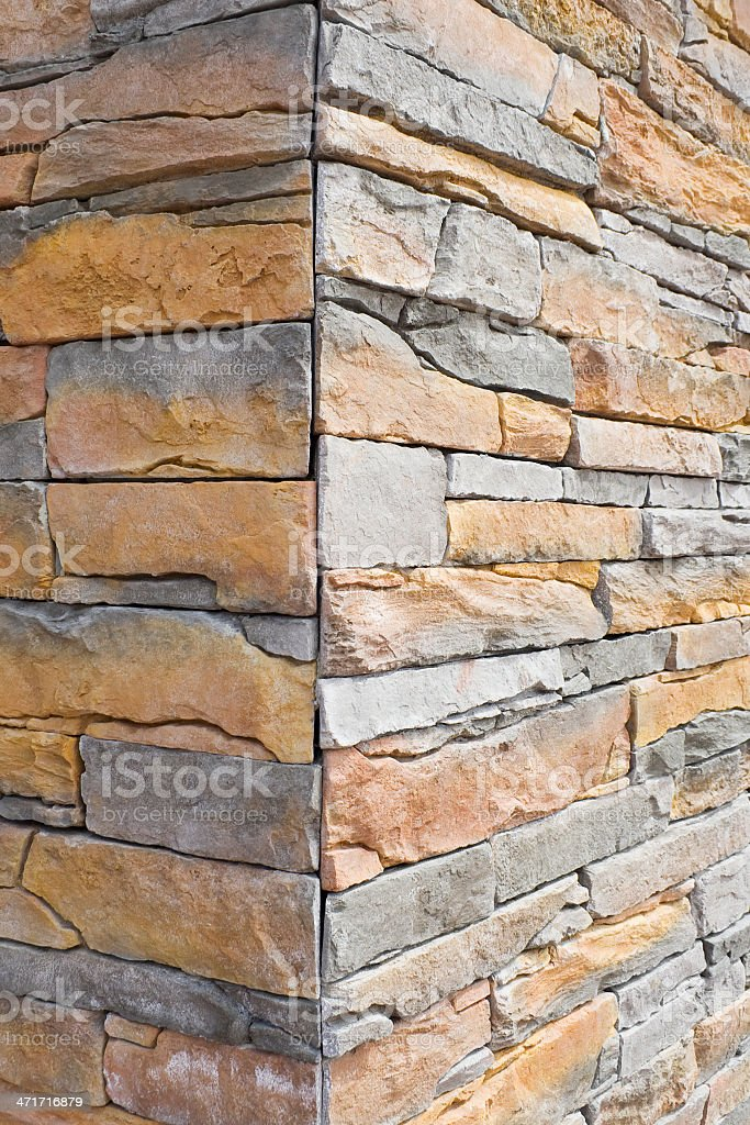 Corner of the stone wall royalty-free stock photo