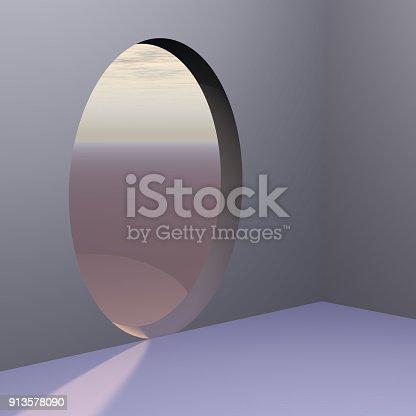 istock Corner Oval Abstract Door 913578090