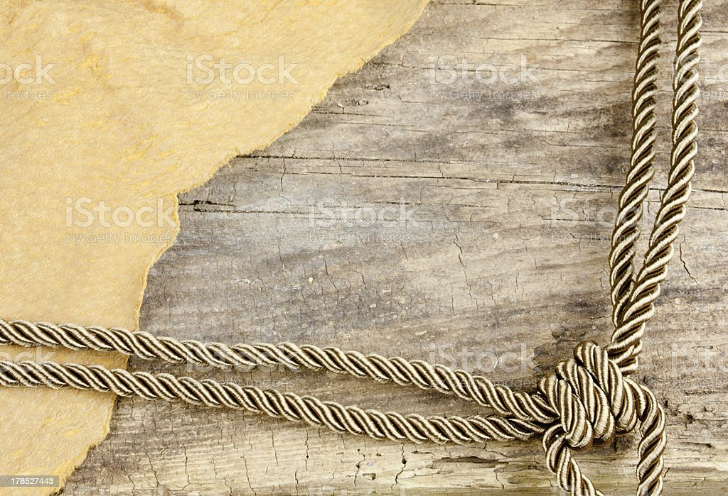 Corner Rope And Leather stock photo
