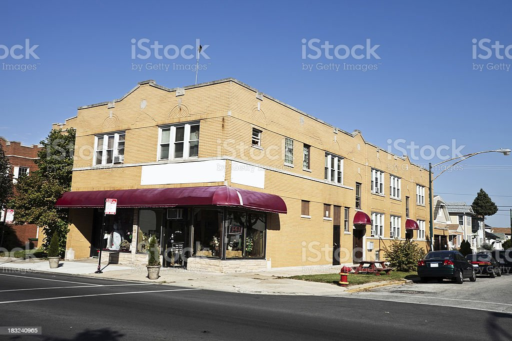 Corner Shop in Dunning, Chicago royalty-free stock photo
