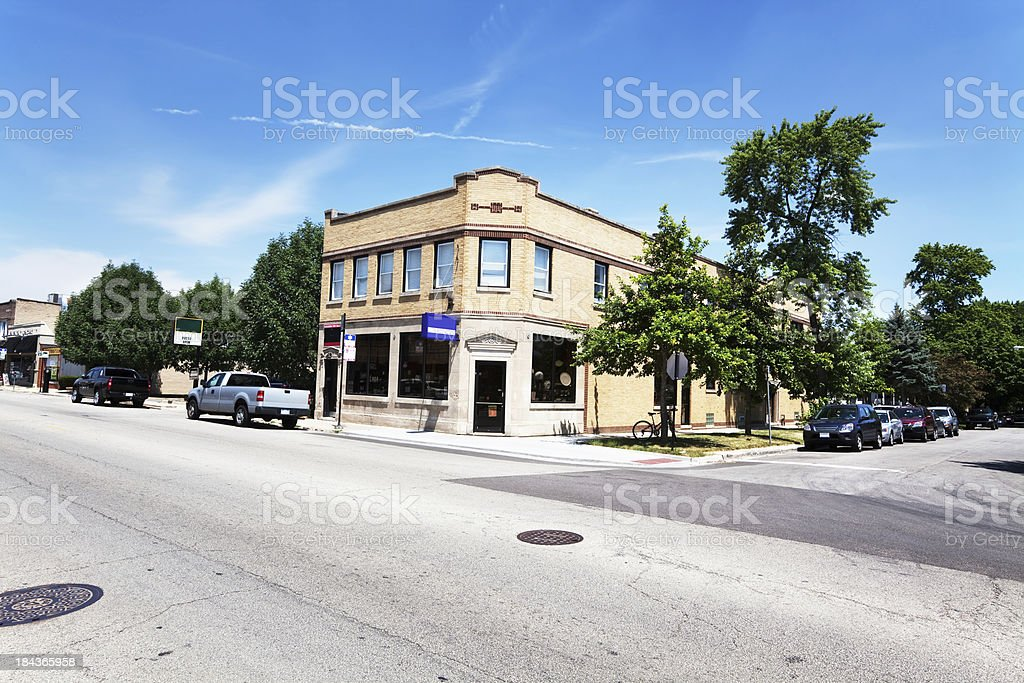 Corner shop in Edison Park, Chicago royalty-free stock photo