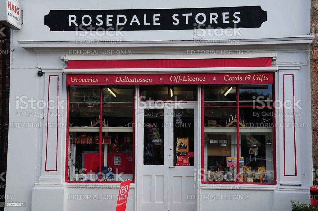 Corner shop, Jersey. royalty-free stock photo