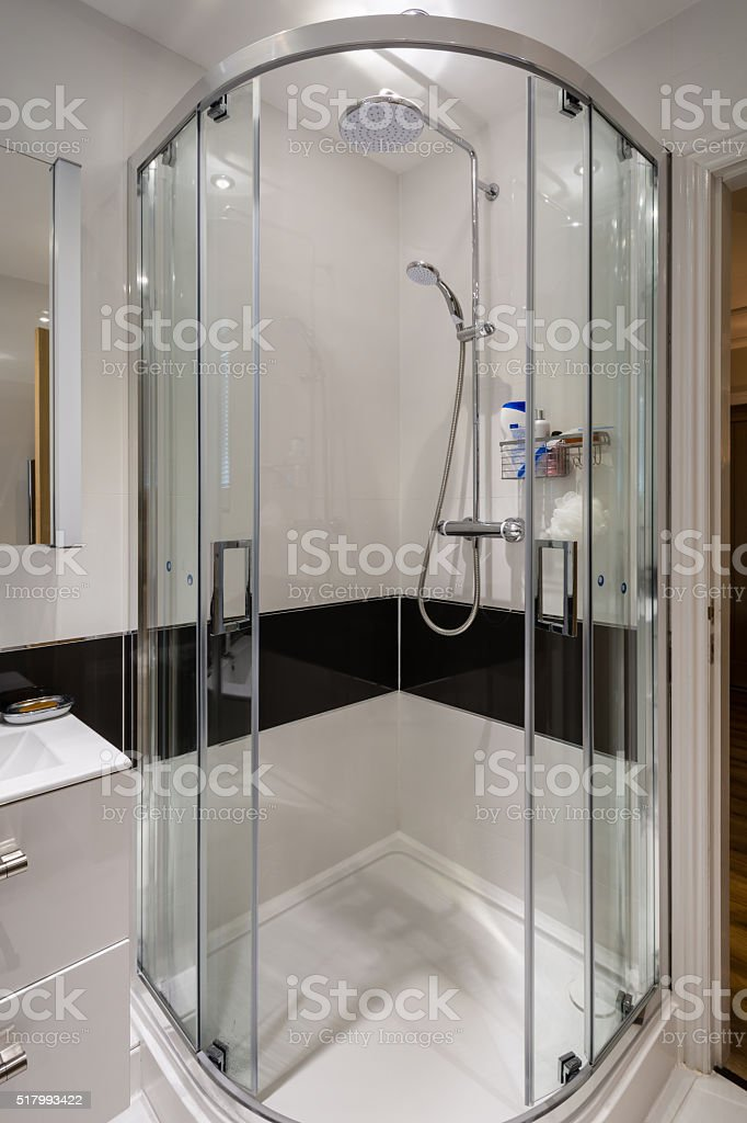 Corner Shower Cubicle Stock Photo & More Pictures of Bathtub | iStock