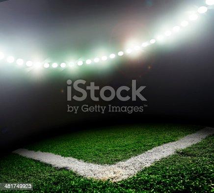 istock corner. stadium lit 481749923