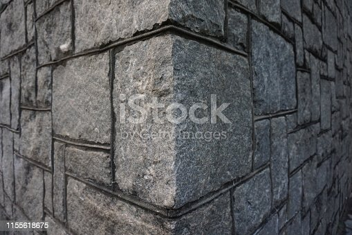 Granite stone blocks forming a corner