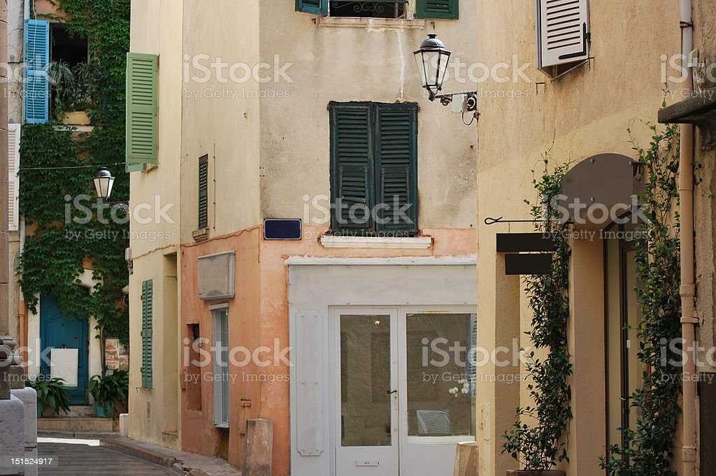 Corner Street in Provence stock photo