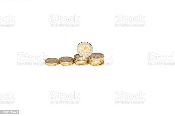 Coins Euros Stock Photo - Download Image Now