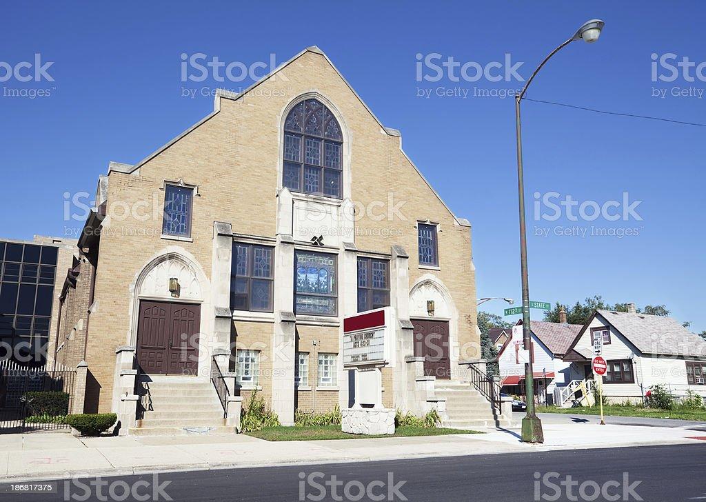 Cornerstone Presbyterian  Church in Roseland, Chicago royalty-free stock photo
