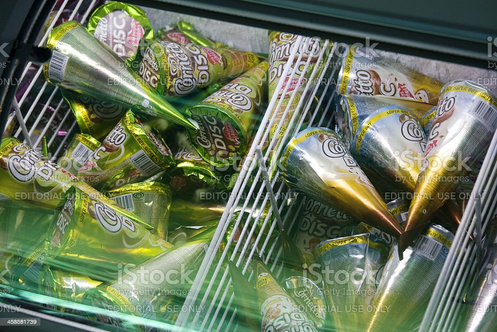 Cornetto ice creams stock photo