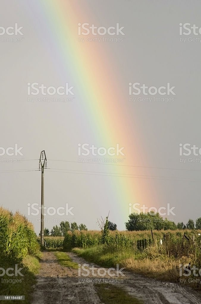 Cornfield rainbow royalty-free stock photo