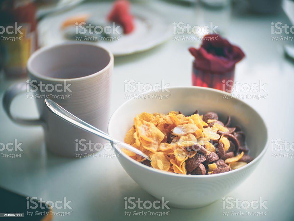 cornflakes breakfast royalty-free stock photo
