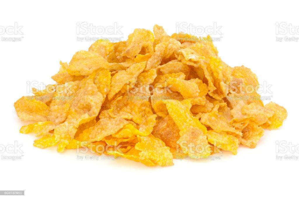 Cornflakes Heap on White stock photo