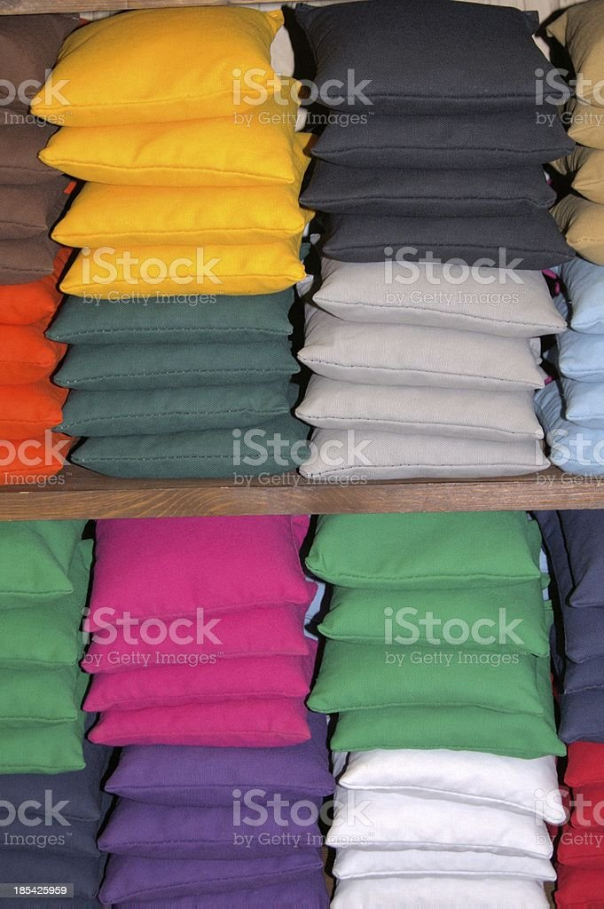 Cornhole bags for sale stock photo
