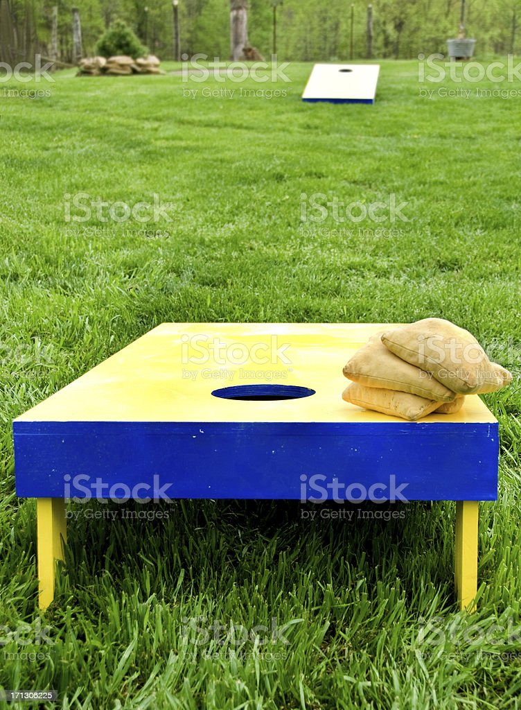 Cornhole Boards stock photo