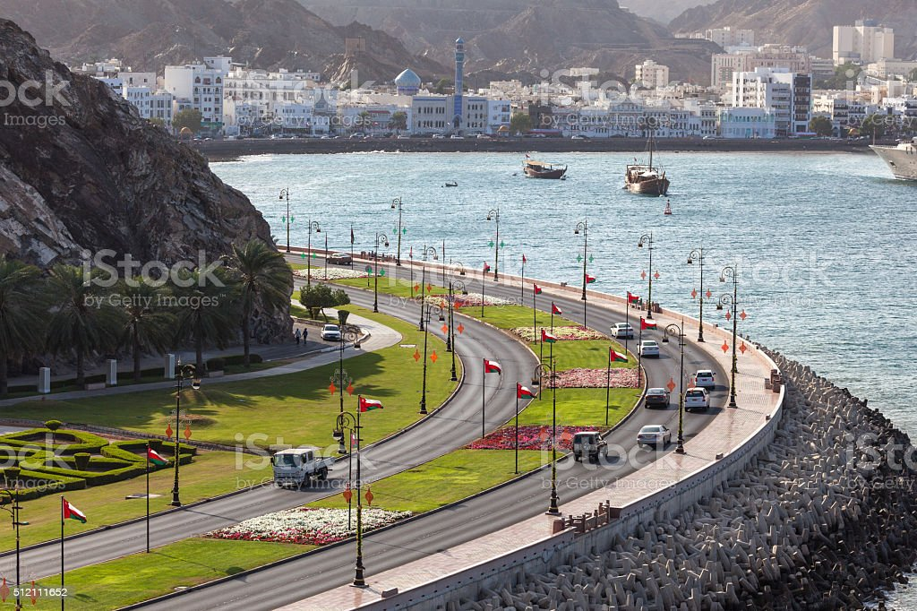 Corniche in Muttrah, Oman stock photo