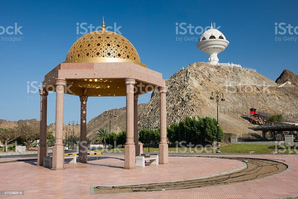 Corniche Muttrah Harbor Promenade Incense Burner Sultanate Oman royalty-free stock photo