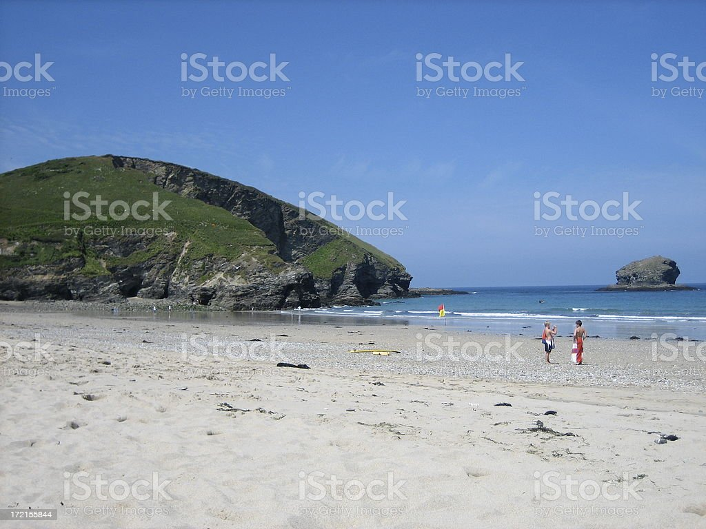 Cornish Beach royalty-free stock photo