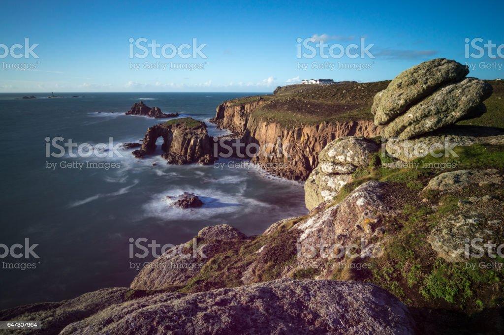 Cornish Coast at Sennen stock photo
